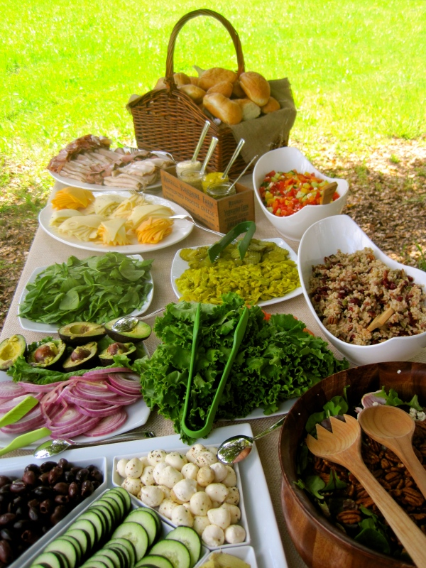 The Bride Wanted A Simple Rustic Luncheon With Gourmet Sandwich Bar For Her Dearest Friends And Family After